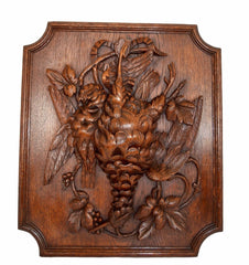 hand carved still life wood panel