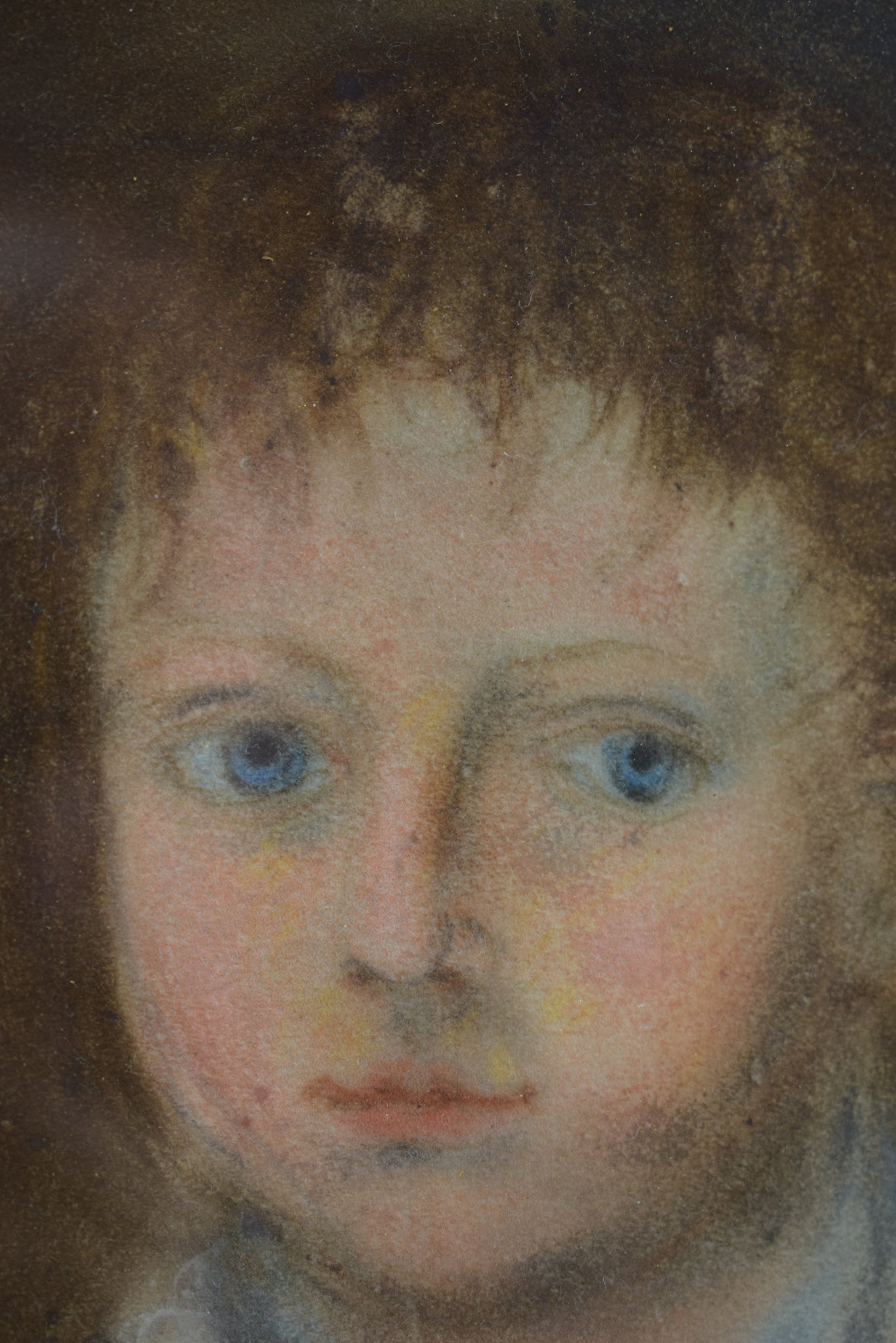 Oil Painting Portrait of a Child Empire period