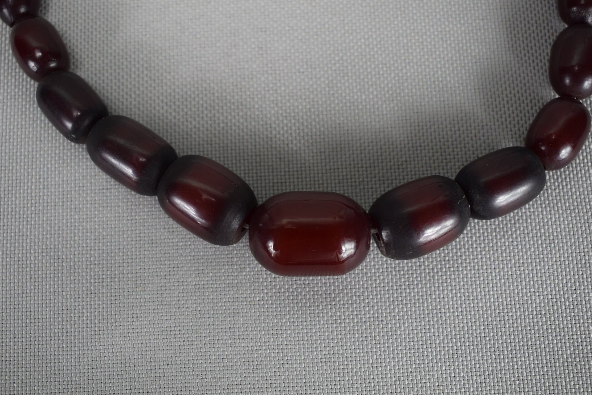 Red Cherry Amber Bakelite Necklace - Charmantiques