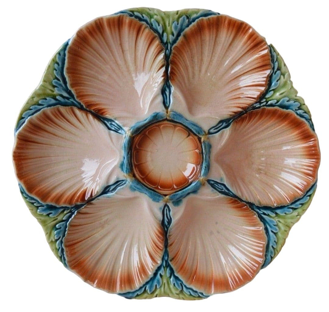 Sarreguemines Oyster Plate - Charmantiques
