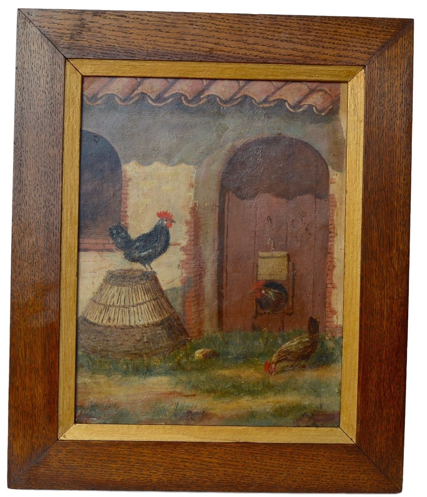 Country Oil Painting - Charmantiques