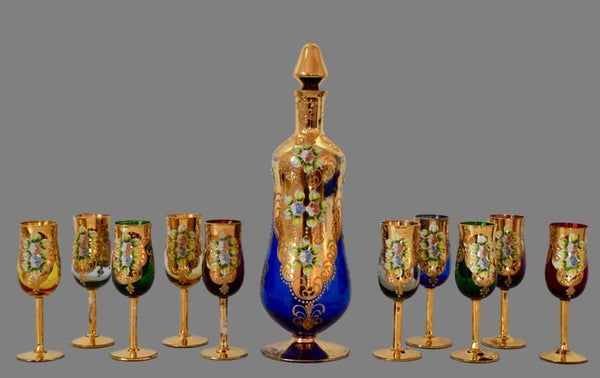 Murano Liquor Mulled Wine Set - Charmantiques