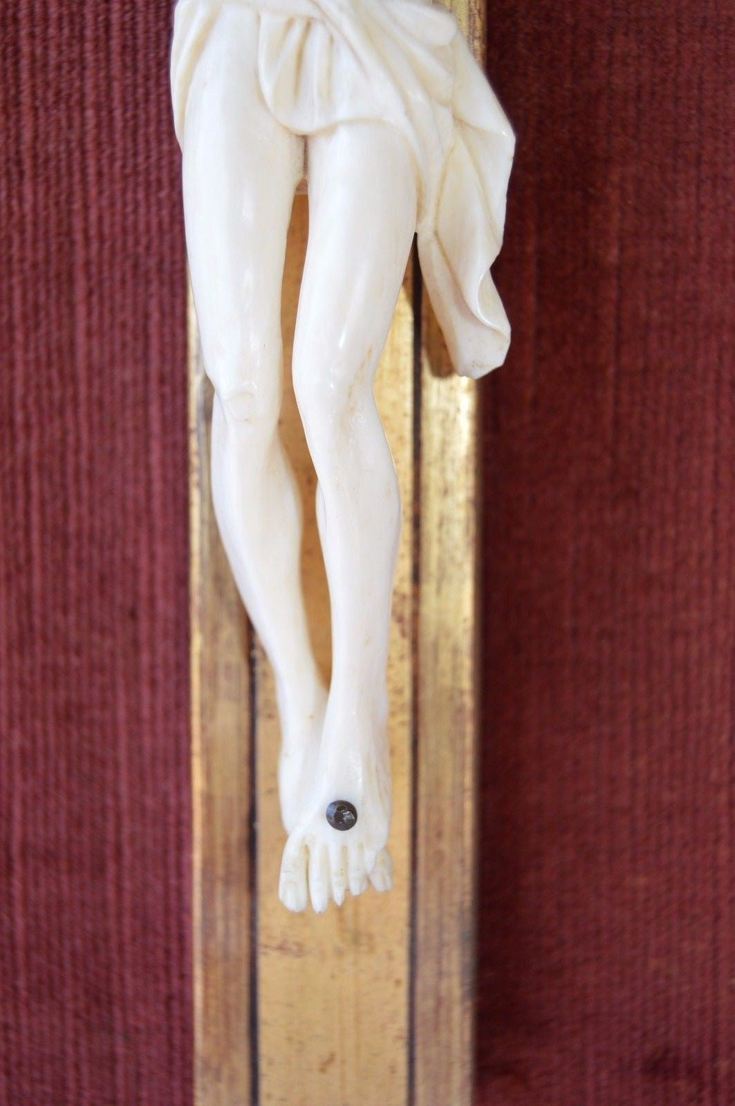Hand Carved Wall Crucifix - Charmantiques