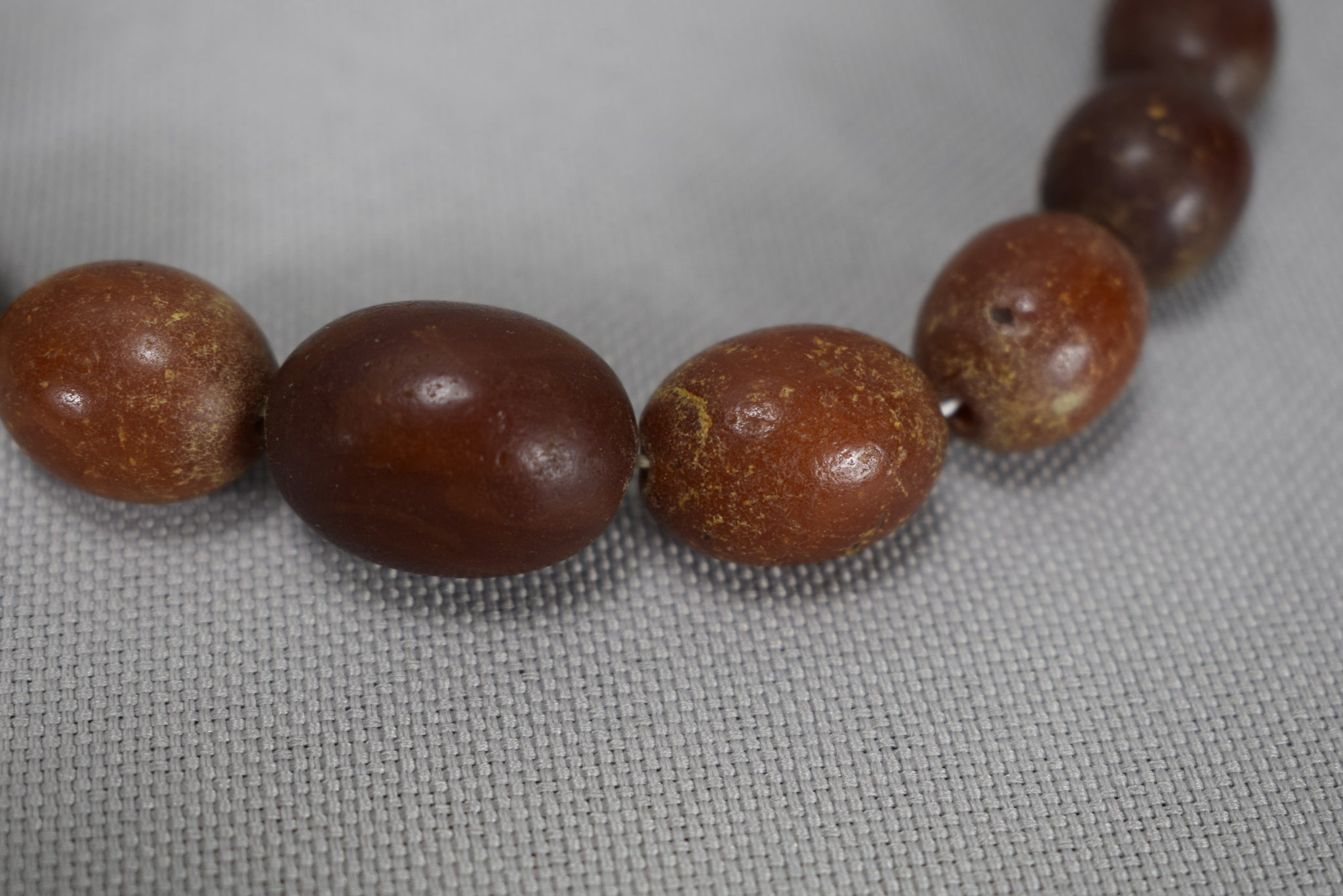 Red Cherry Amber Necklace 54g - Charmantiques