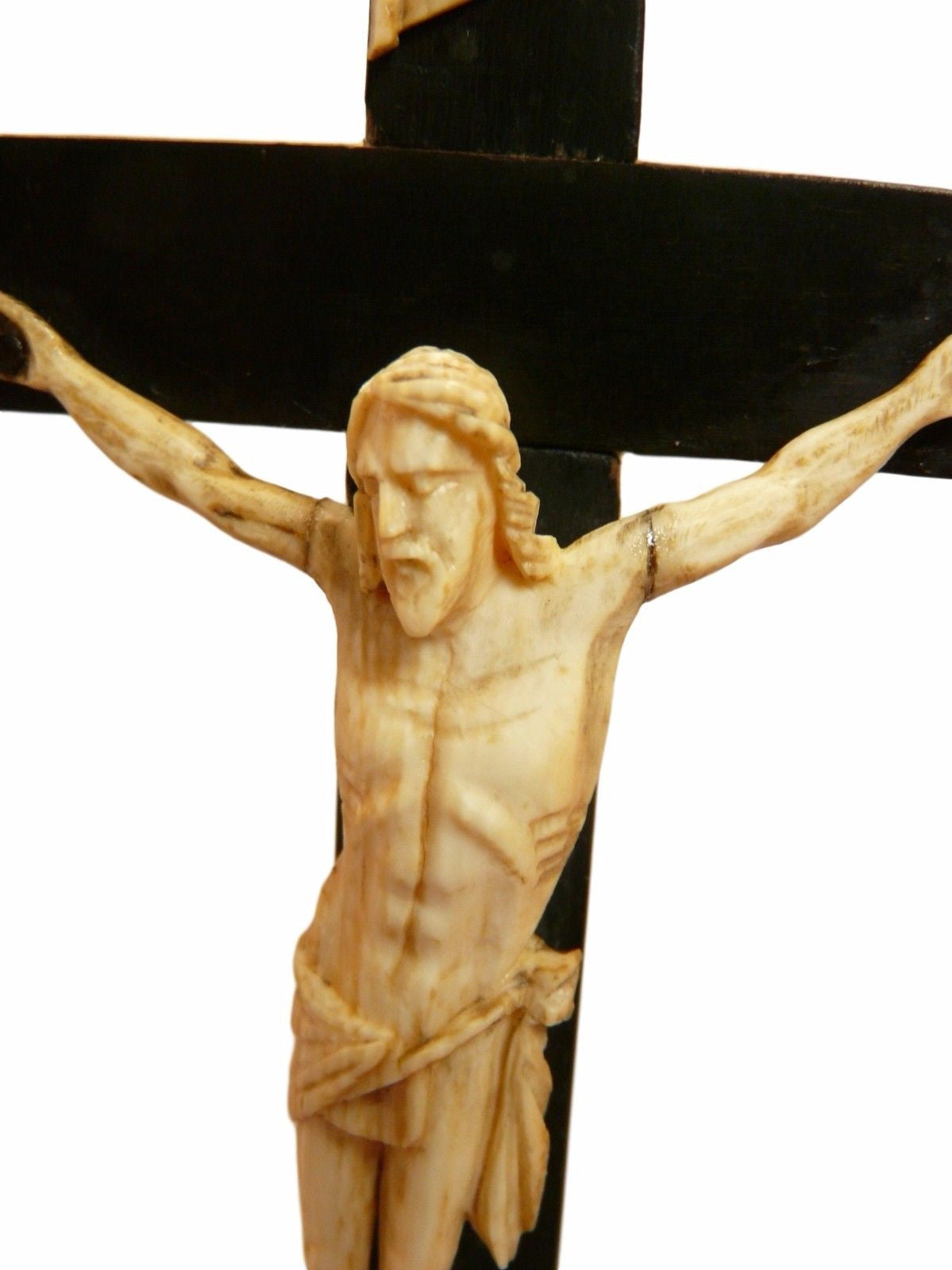 Hand Carved Altar Crucifix - Charmantiques