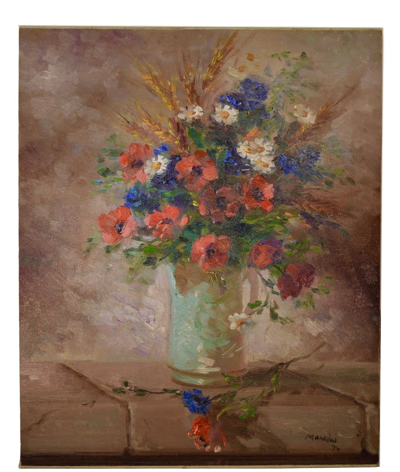 Flower Oil Painting - Charmantiques