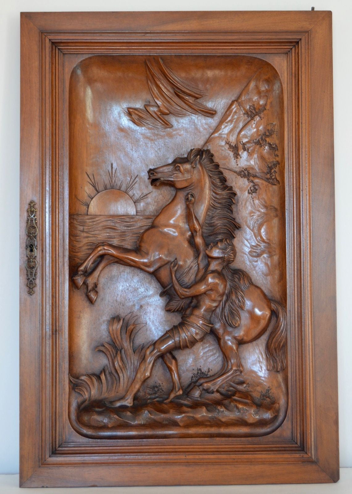 The Marly Horse Carved Door - Charmantiques