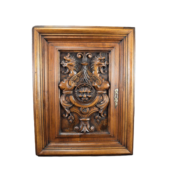 Wood Door Chimera 17th - Charmantiques