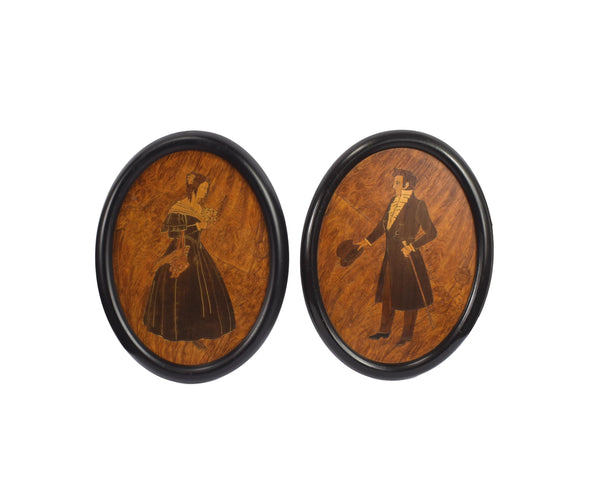 Wooden Marquetry Medallions - Charmantiques