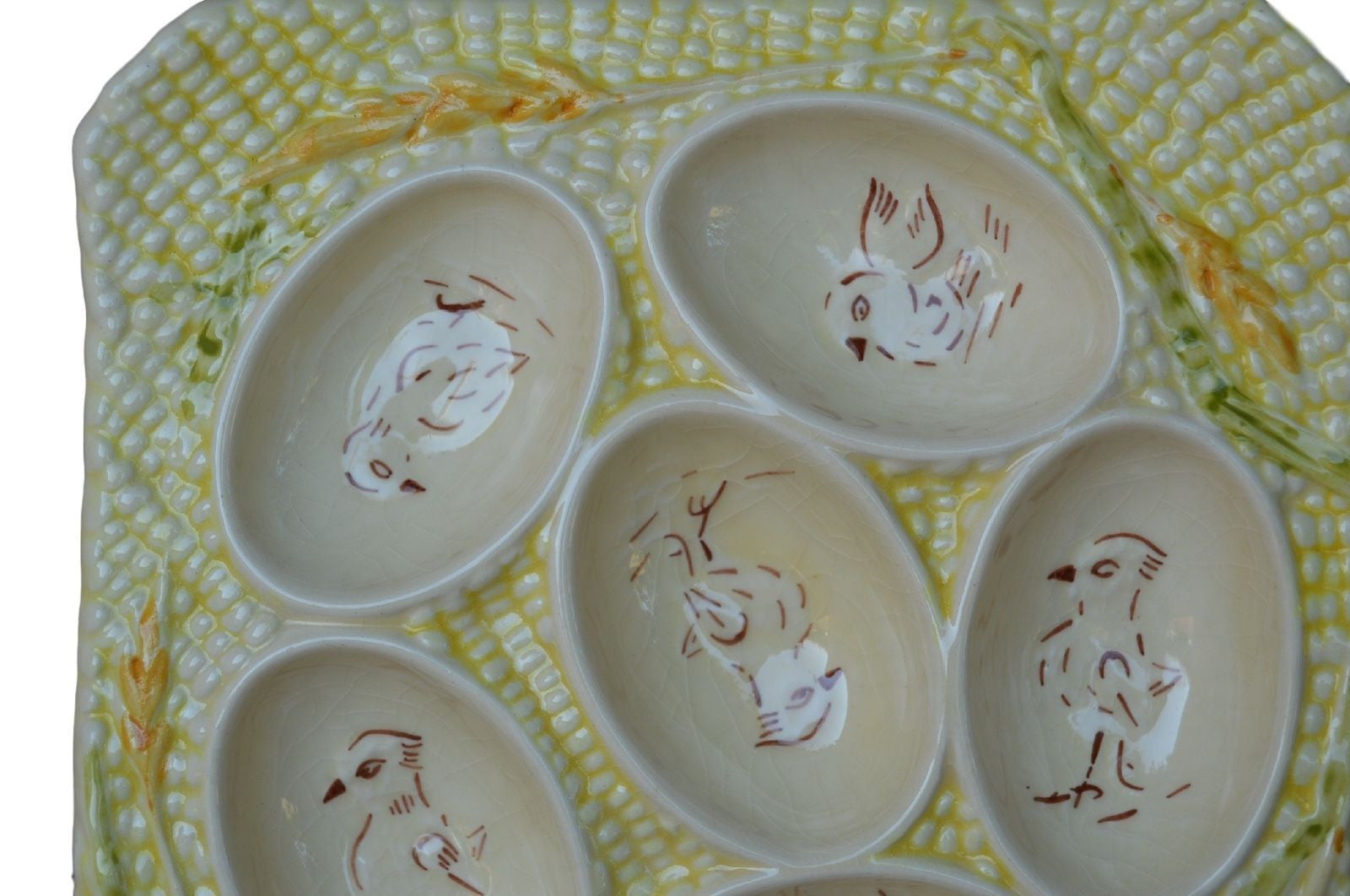 Longchamp Majolica Eggs Square Server Plate FREE SHIPPING ! - Charmantiques