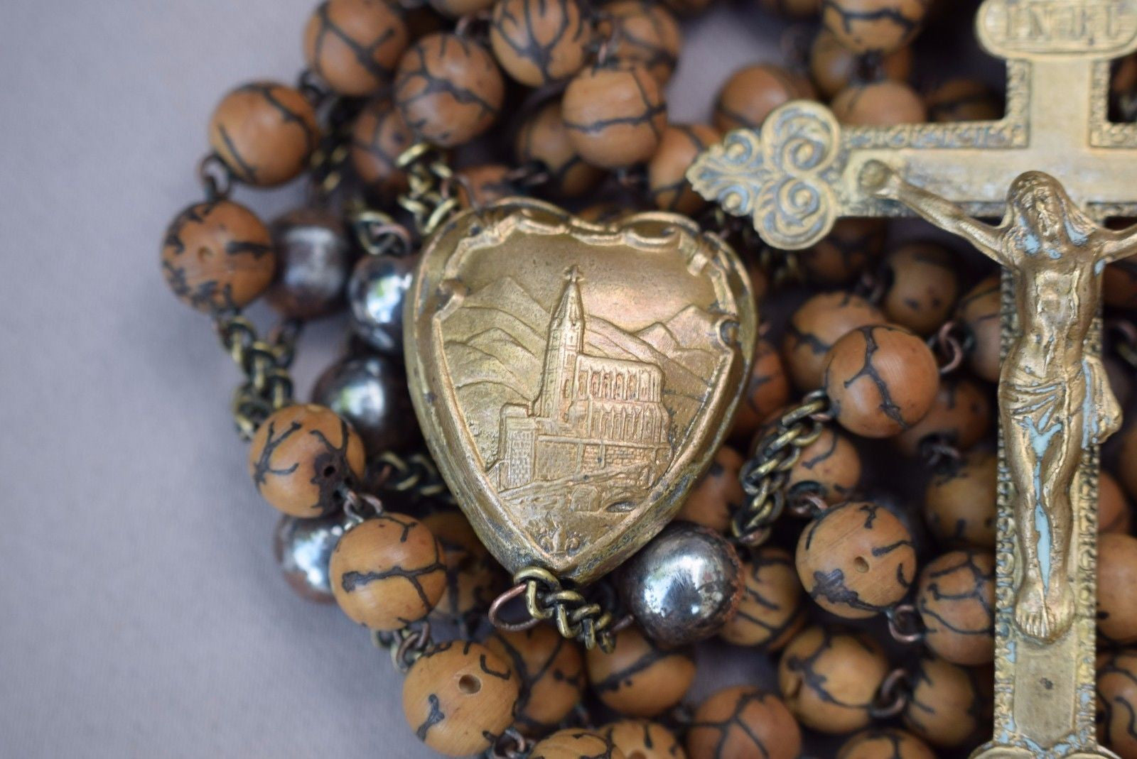 "Pilgrimage 54"" Long Lourdes Rosary FREE SHIPPING! - Charmantiques"