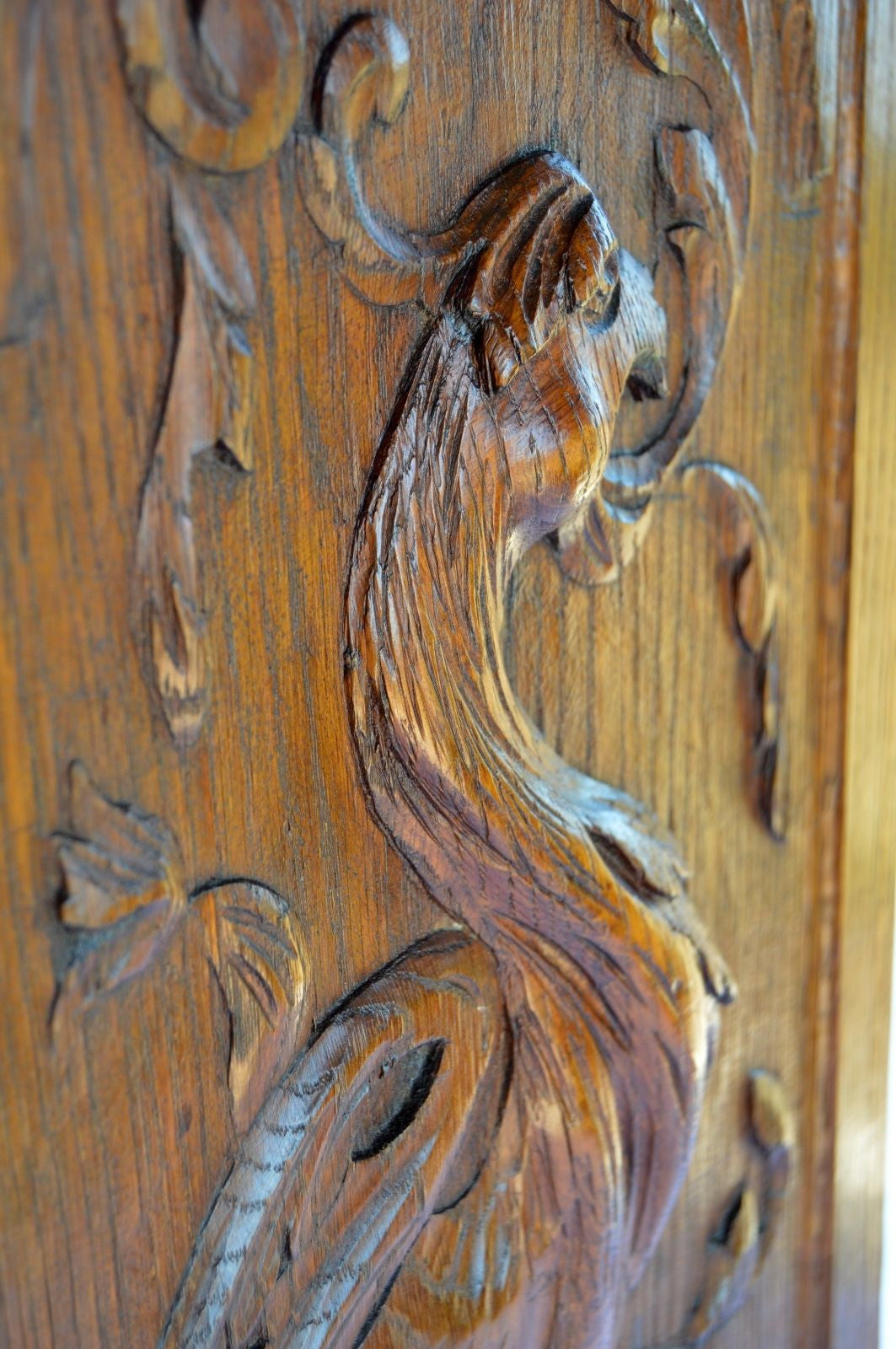 Carved Griffin Panel - Charmantiques