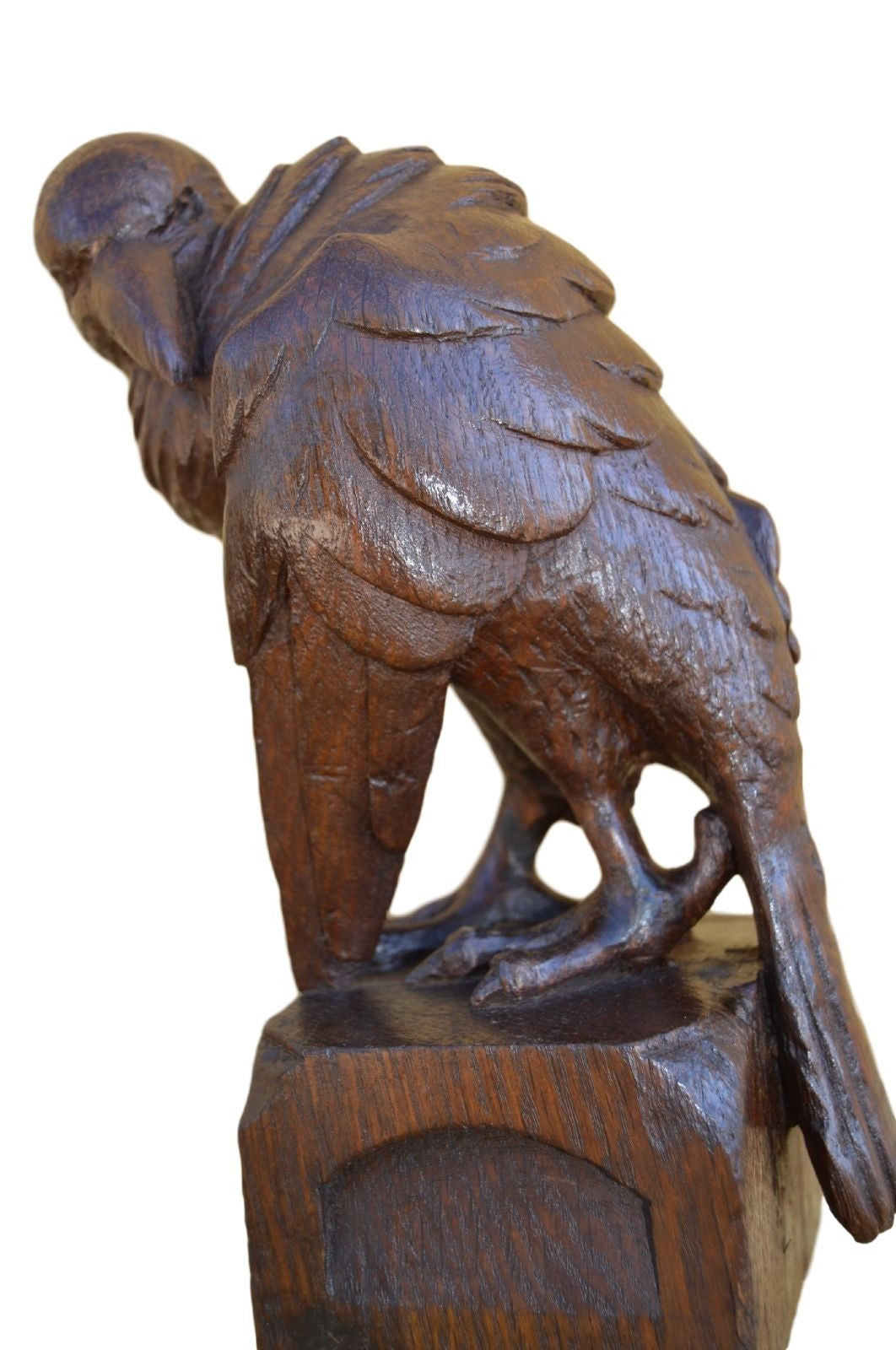 Carved Wood Bird Sculpture - Charmantiques
