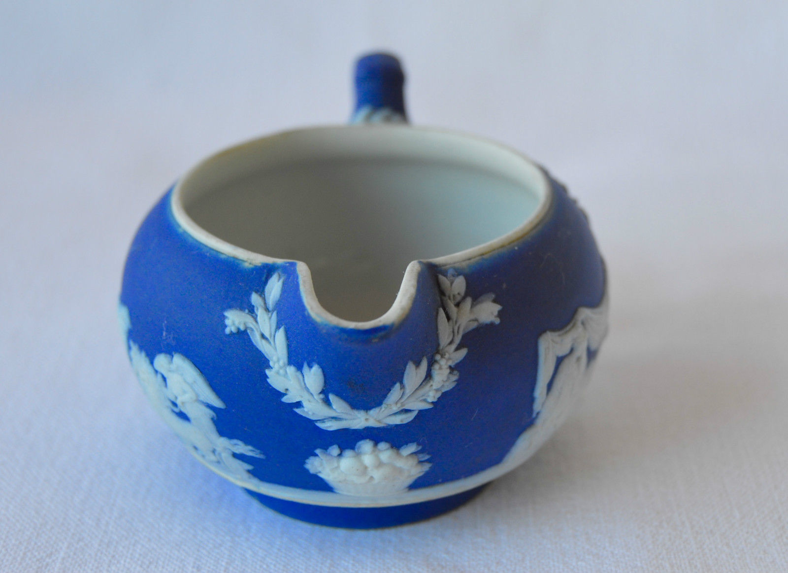 Wedgwood Dark Blue Creamer - Charmantiques