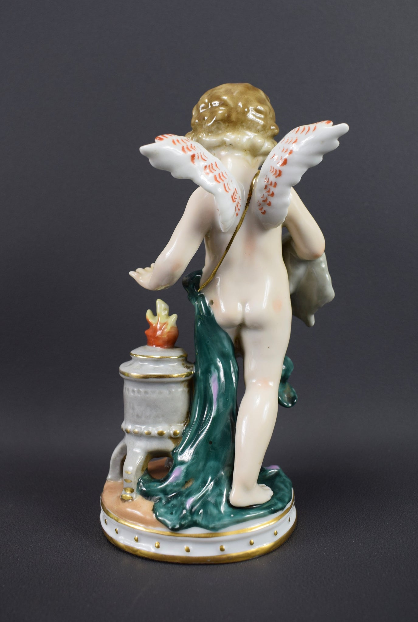 French Porcelain Cherub - Charmantiques
