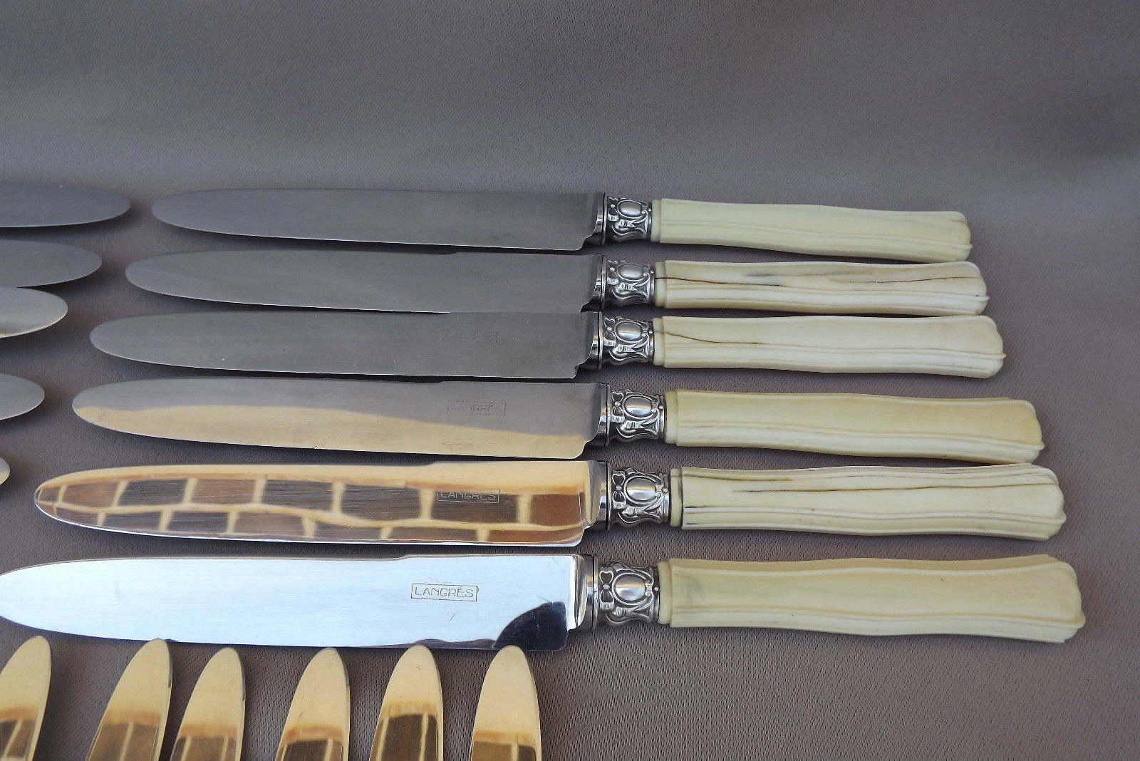 24pc Ivory Knife Set - Charmantiques