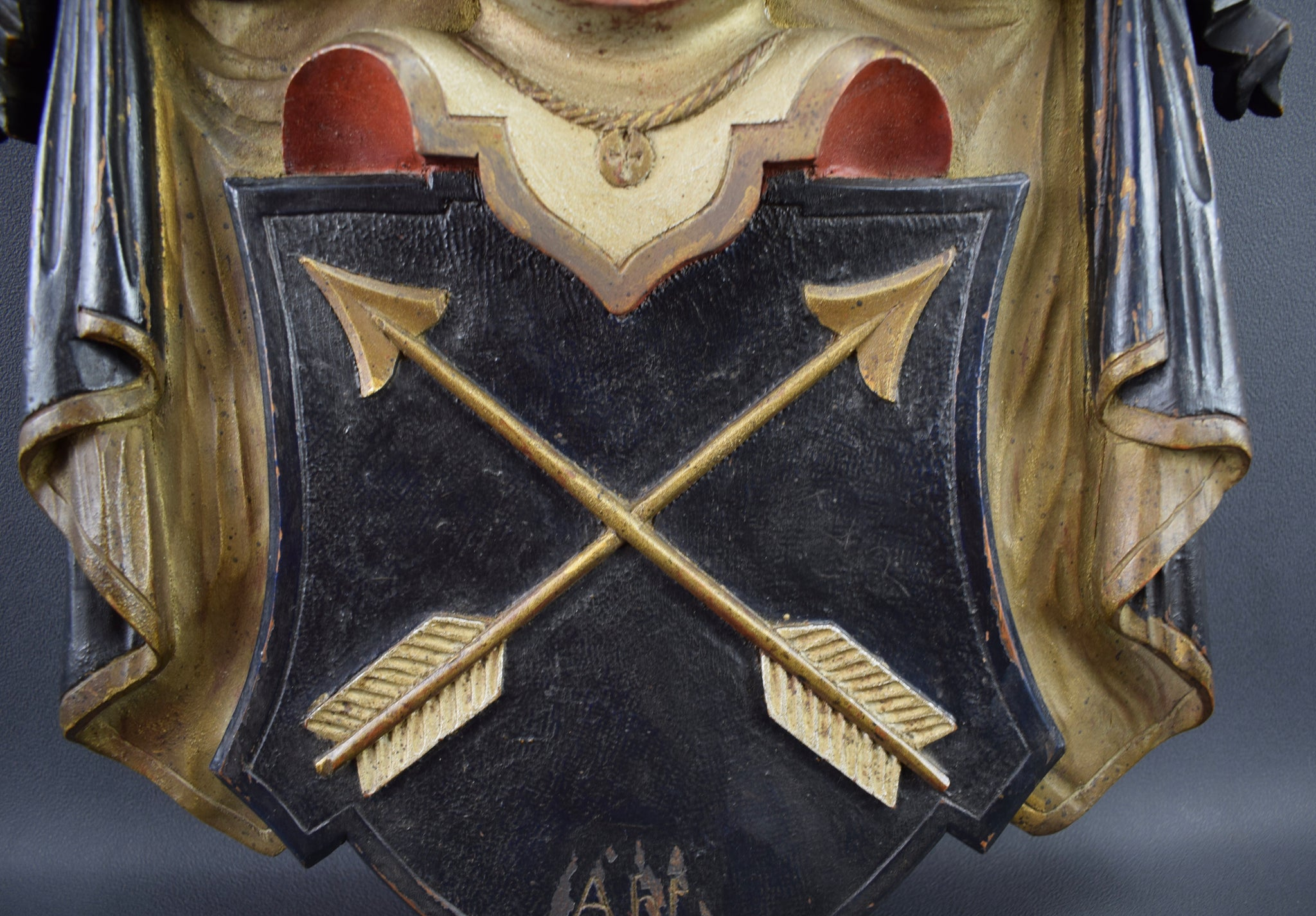 Polychrome Crowned Coat of Arms