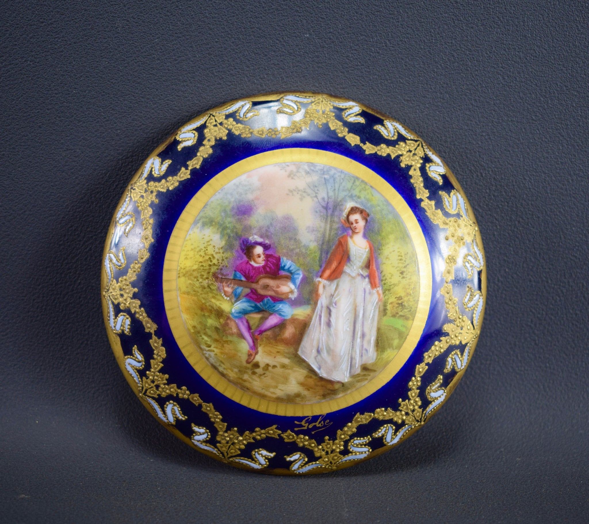 Hand Painted Porcelain Box