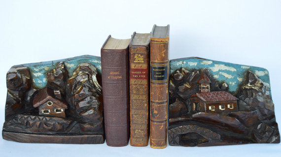 Black Forest Bookends - Charmantiques