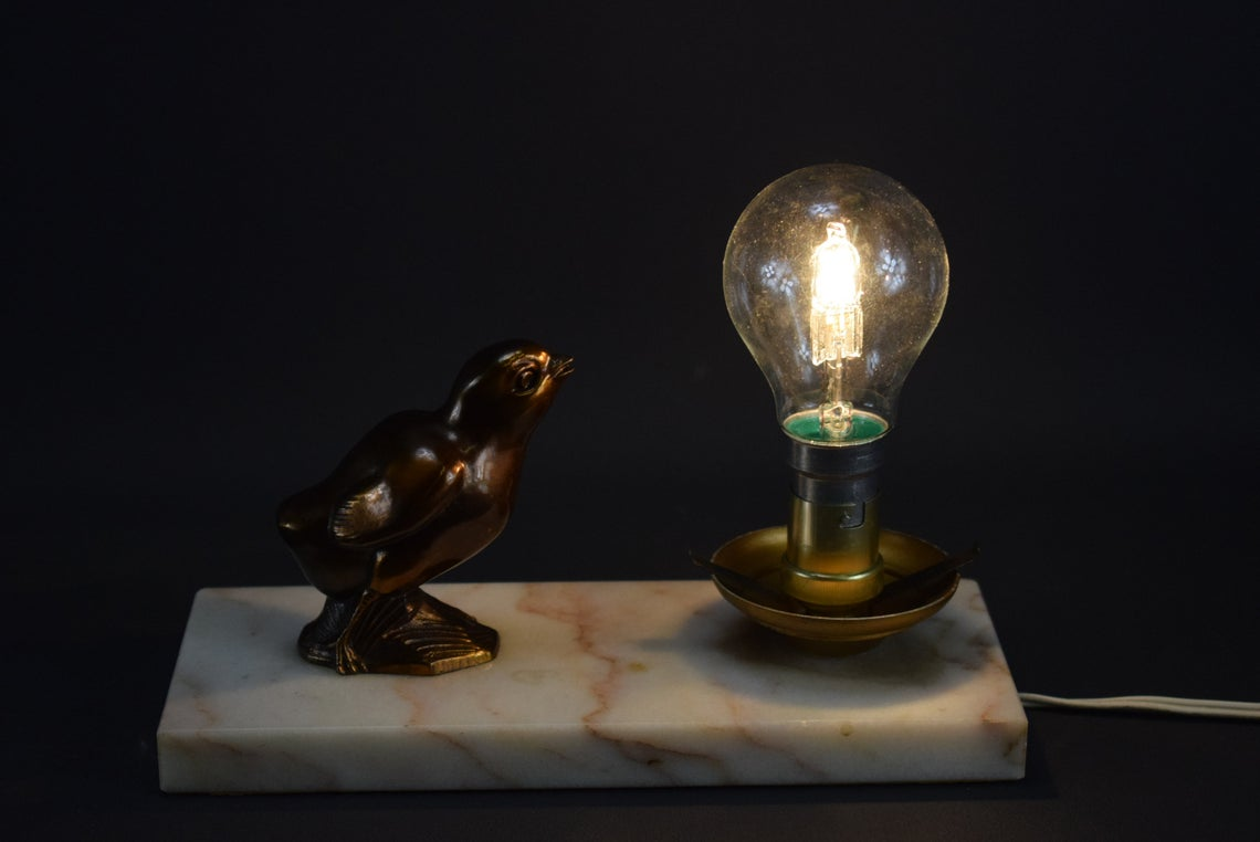 Art Deco Chick Bedside Lamp - Charmantiques