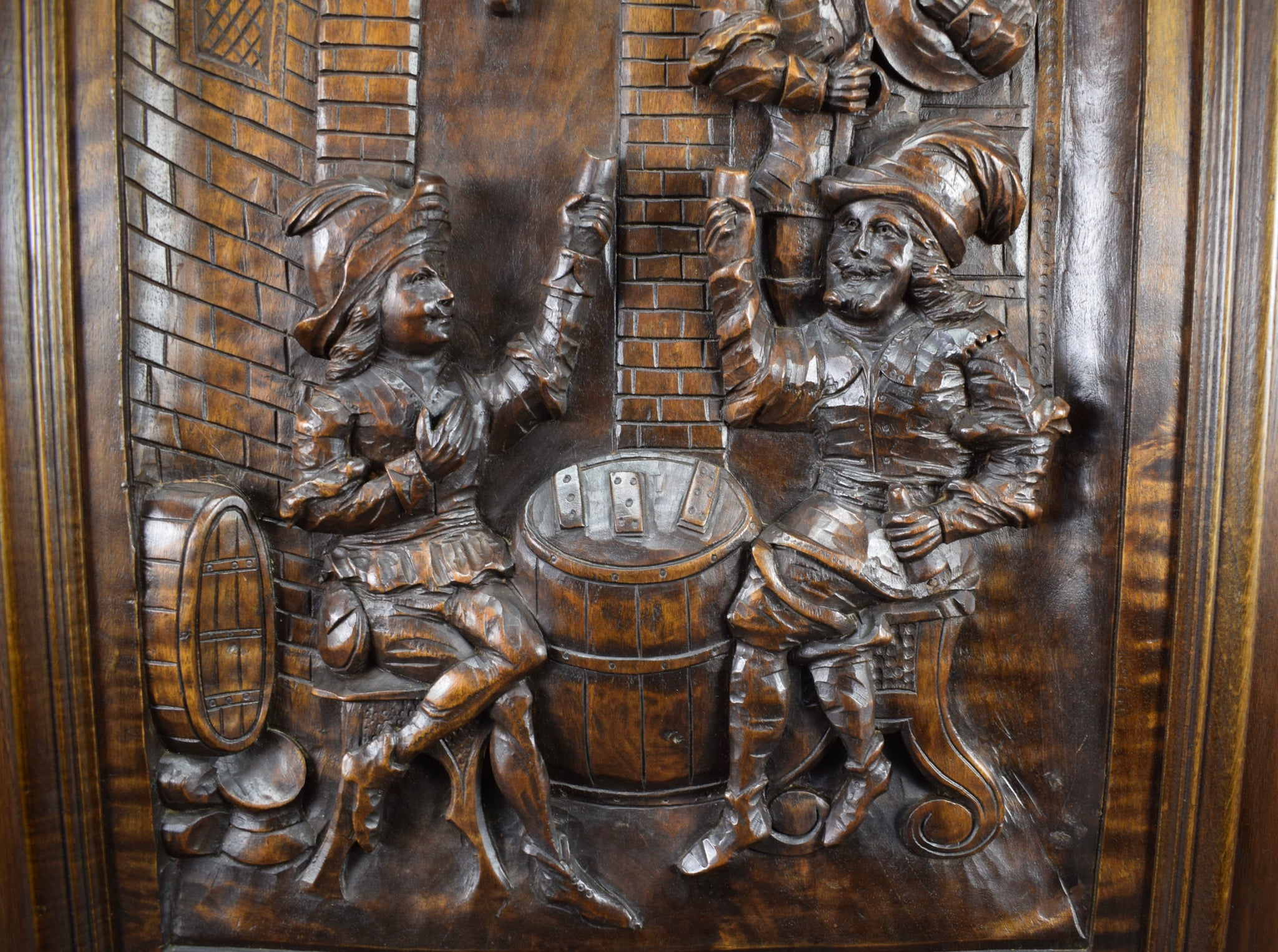 Hand Carved Wood Tavern door - Charmantiques