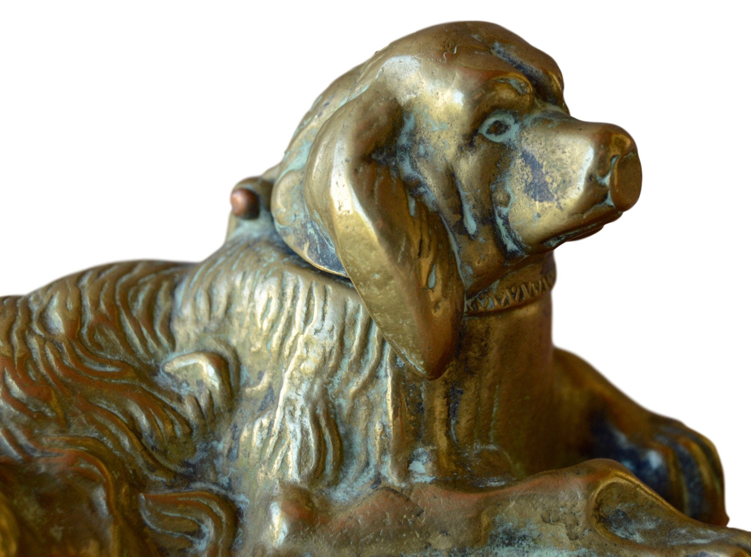 Bronze Dog Inkwell - Charmantiques