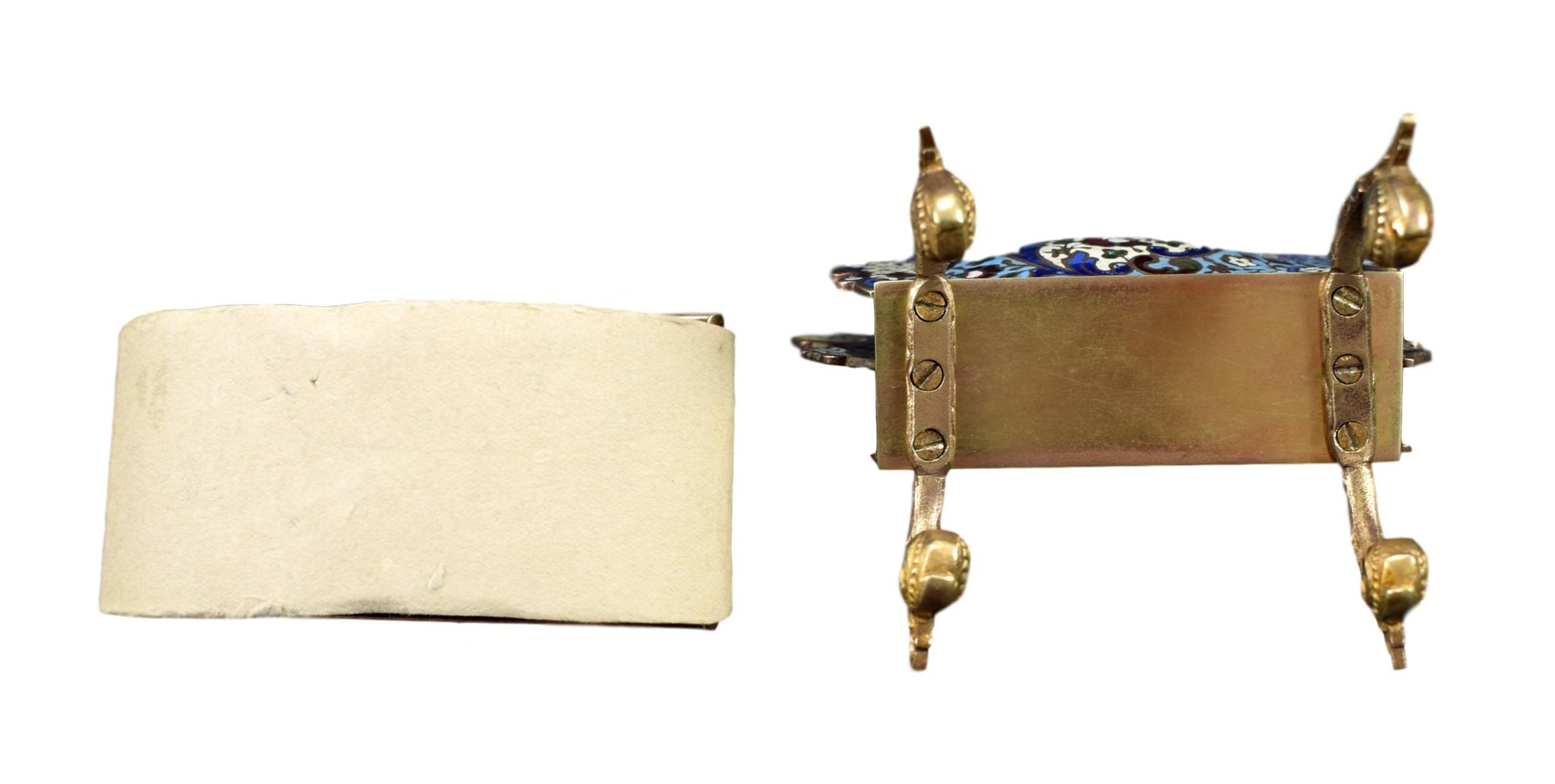 Enameled Cloisonne Letter Holder - Charmantiques