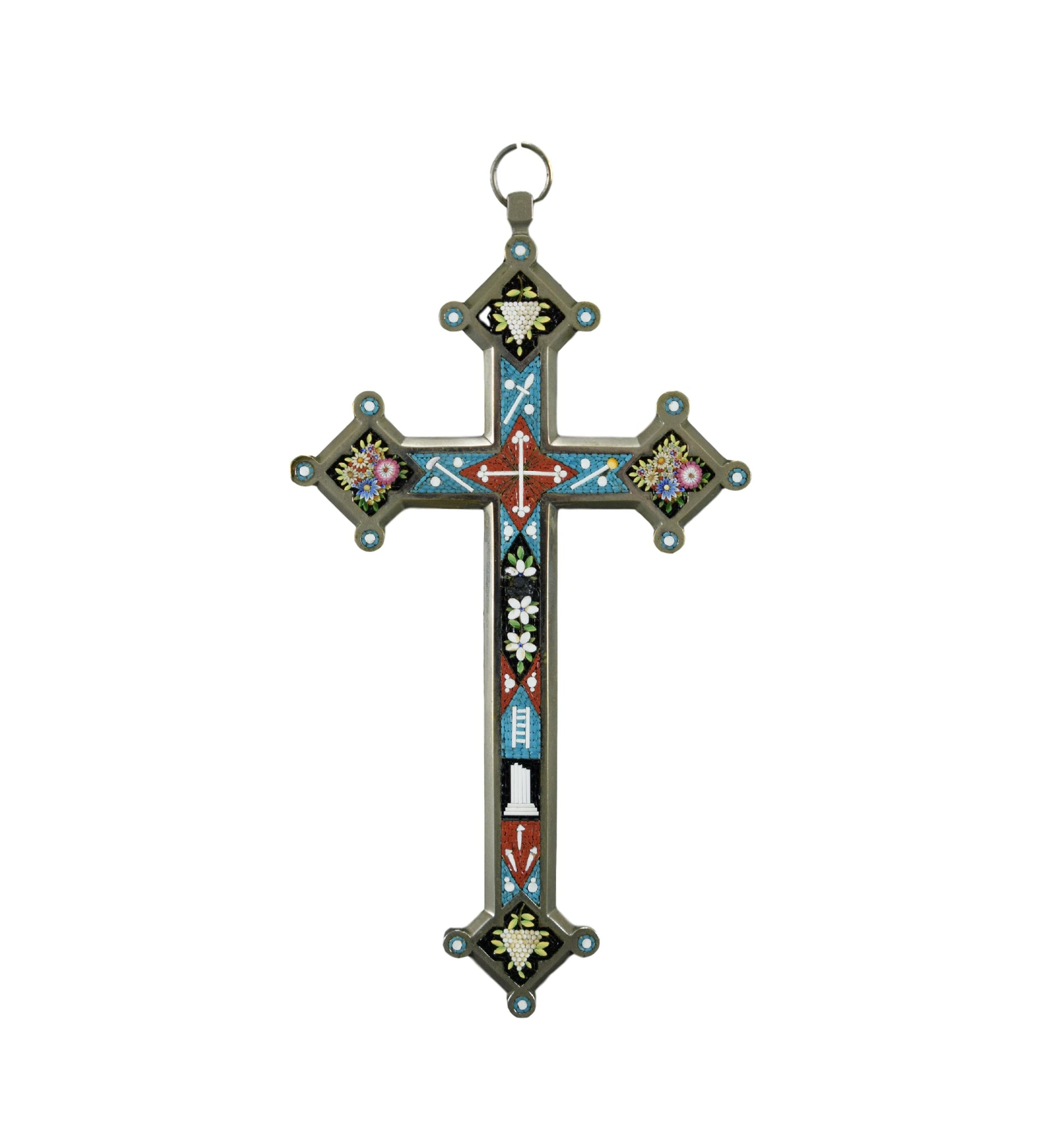 Large Micro Mosaic Wall Cross - Charmantiques