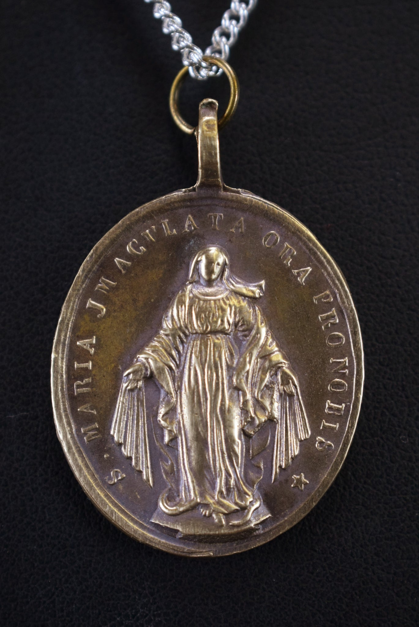 Sacred Hearts Medal Immaculate Conception Mary Pendant