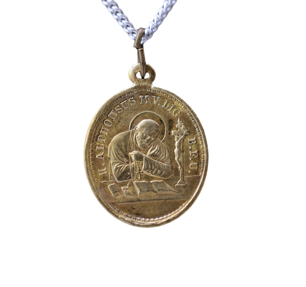 Saint Alphonse Marie de Liguori Medal and Our Lady Of Help Pendant