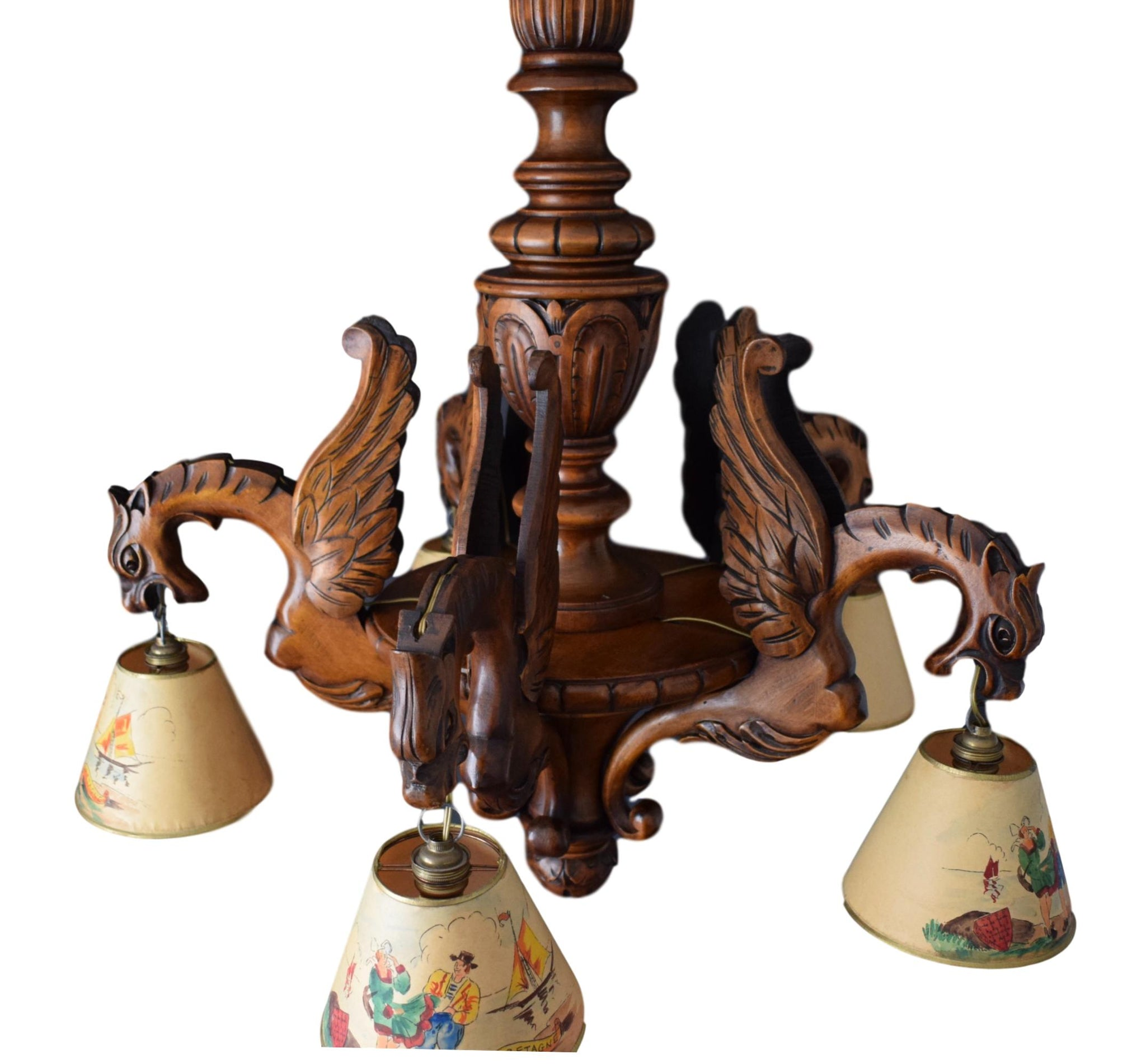 Black Forest Chandelier 5 Lights