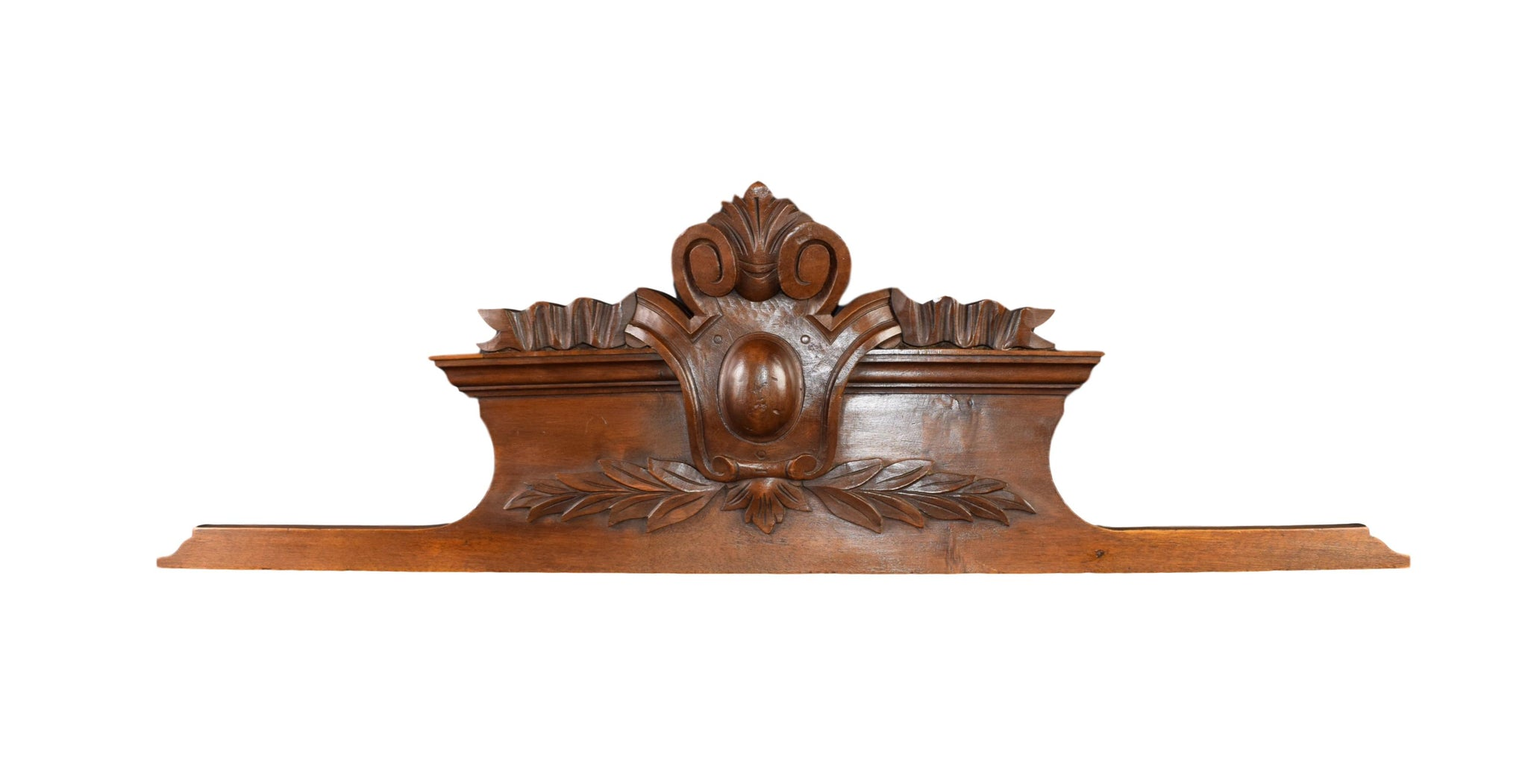 Antique French Carved Wood Pediment - Antique Architectural Salvage Furniture - Above Door Decor - Louis XVI style