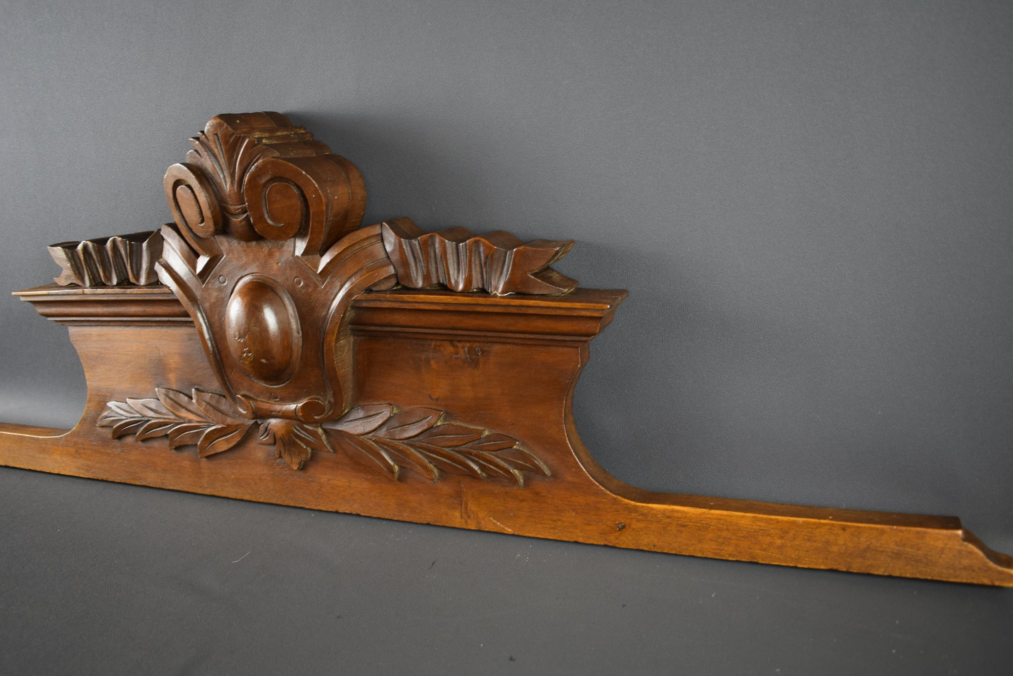 Hand Carved Pediment