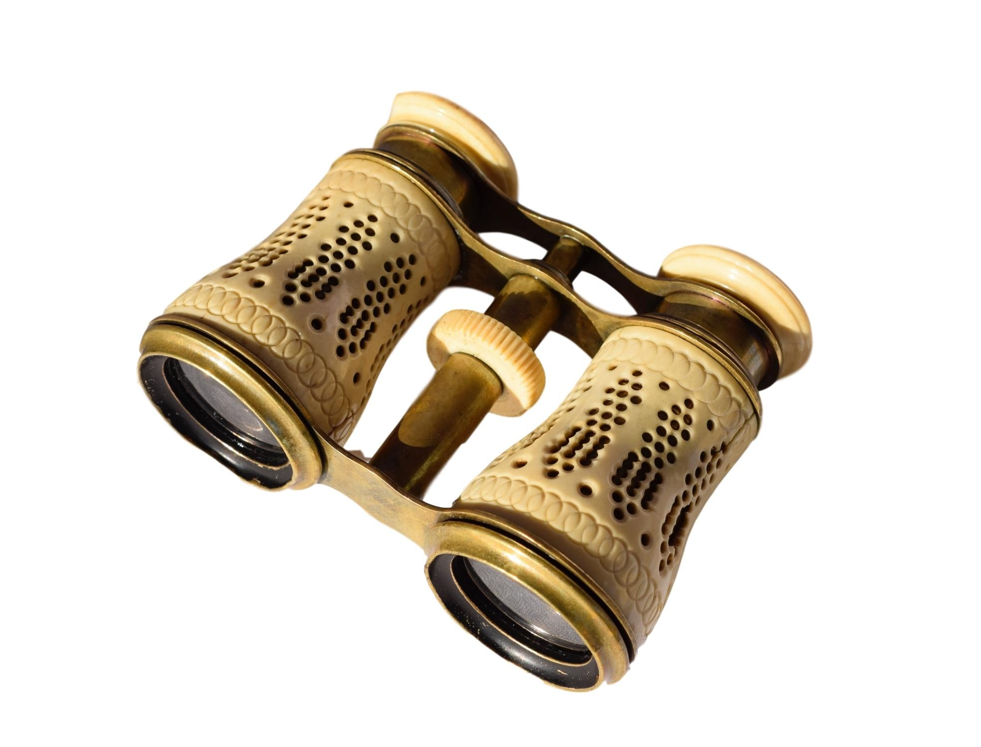 French Antique Carved Opera Glasses - Old Theatre Theater Pair of Binoculars 19th.C - Boudoir Parisian Style
