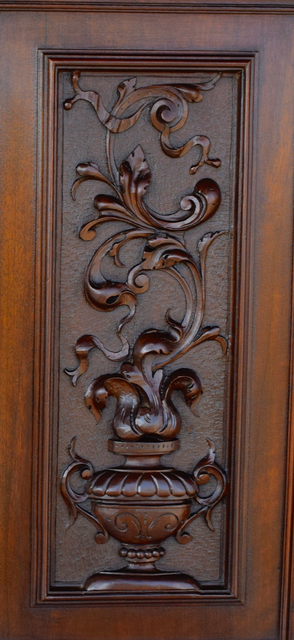 French Antique PAIR of Carved Salvaged Wood Door Panel - Pair of Cupboard Doors - Furniture Doors - Architectural Wood Salvage Door