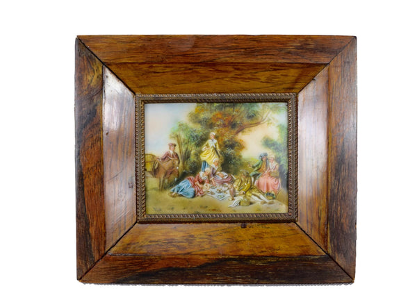 French Country Lunch Painting - Charmantiques