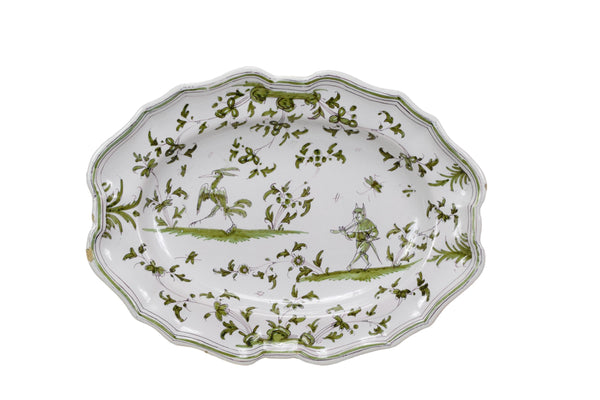 18th.C Moustiers Platter - Charmantiques