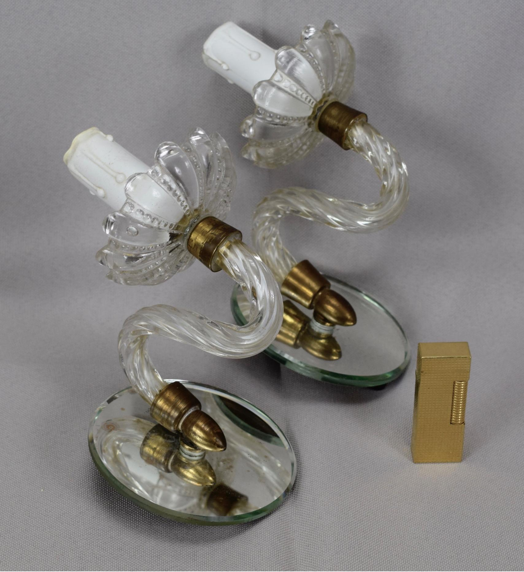 Murano Style Wall Sconces - Charmantiques