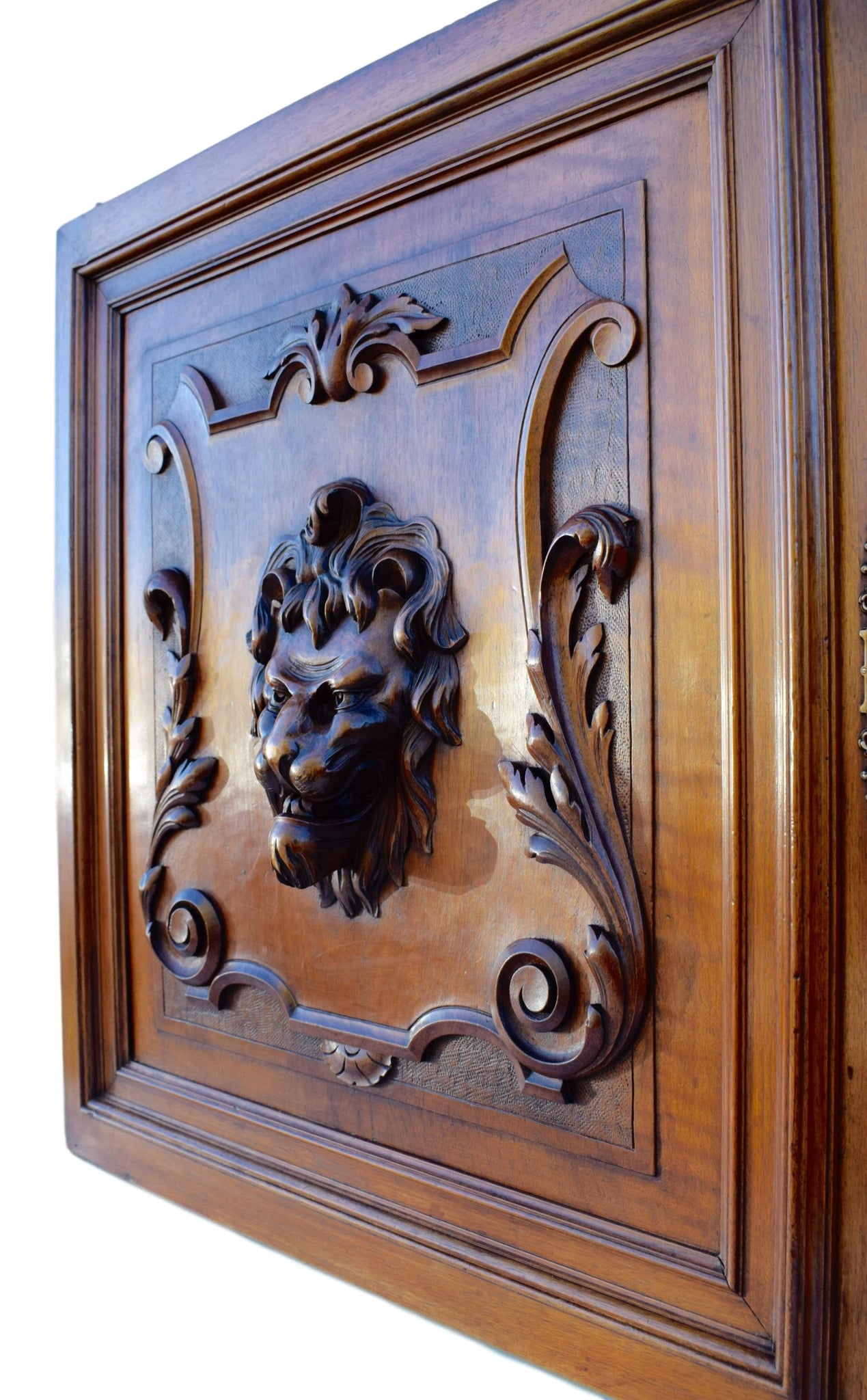 Carved Lion Door - Charmantiques