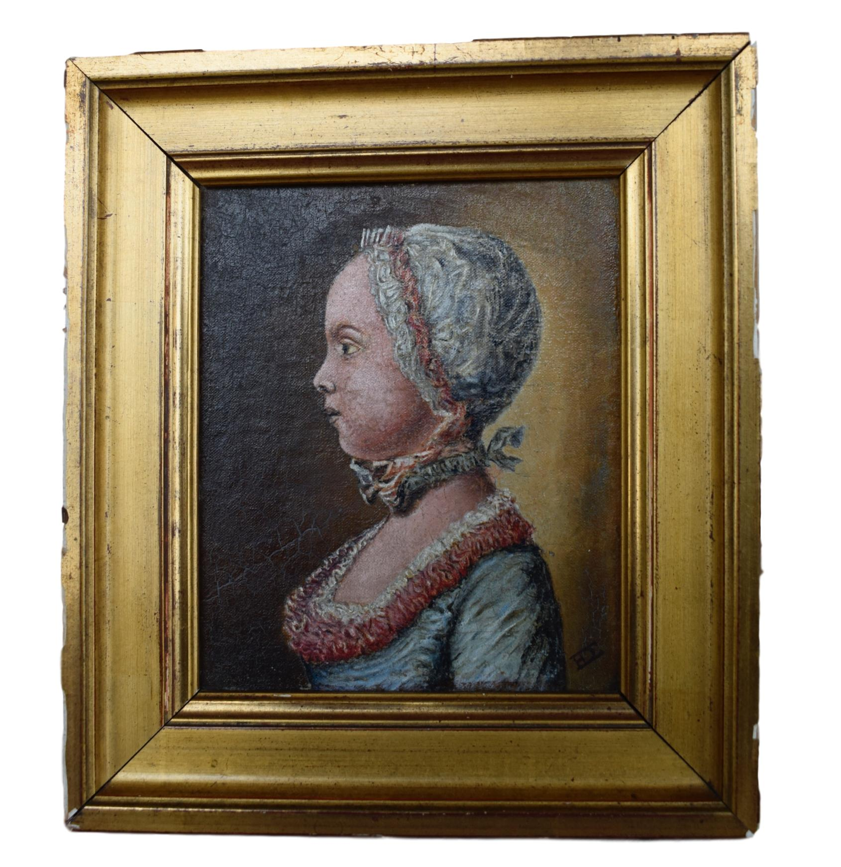 French School Oil Painting - Charmantiques