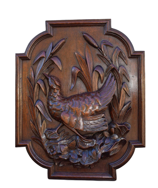 Black Forest Bird Panel - Charmantiques