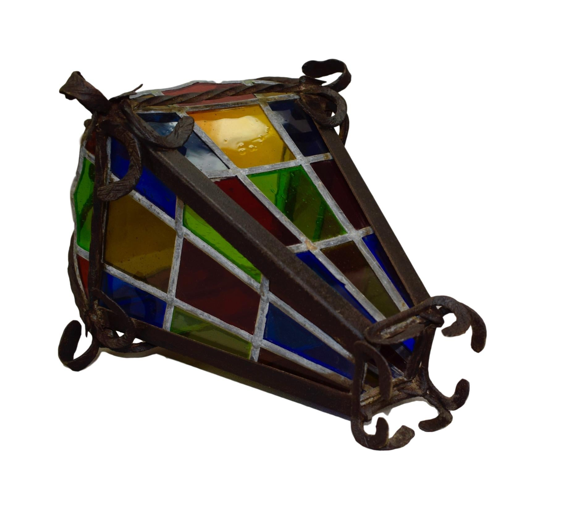 Wrought Iron Lantern - Charmantiques