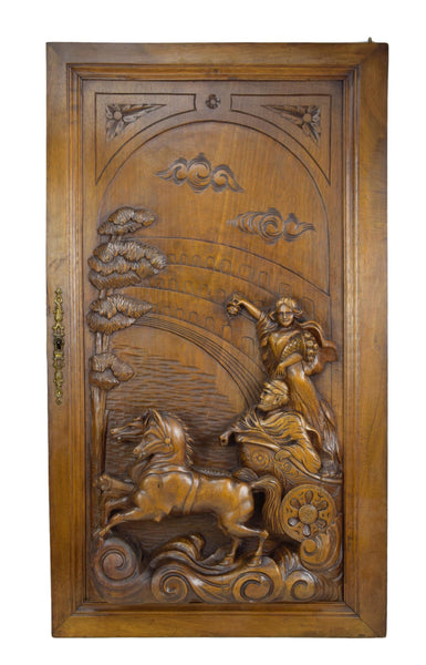 Carved Antiquity Arena Door - Charmantiques
