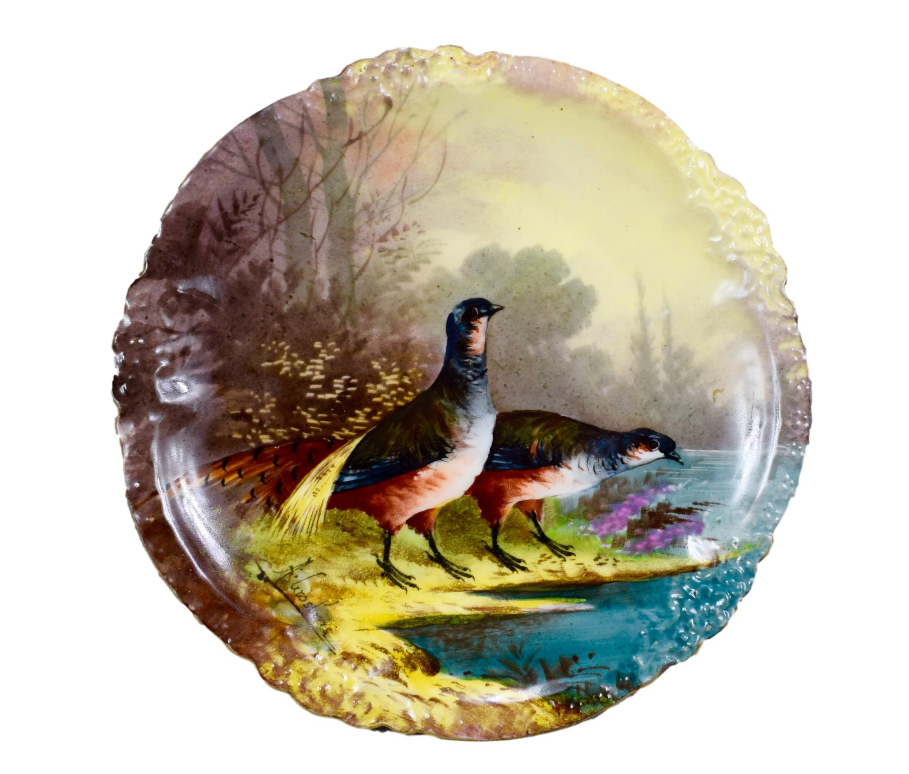 Game Birds Wall Plate - Charmantiques