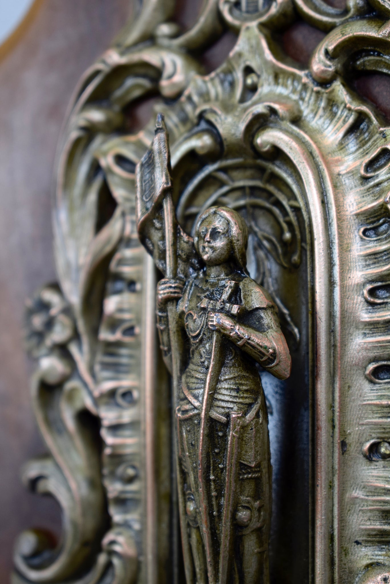 St Joan of Arc Holy Water Font - Charmantiques