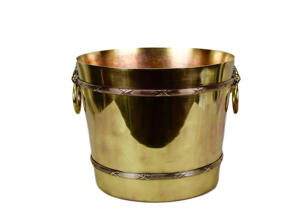 Lion Brass Planter - Charmantiques
