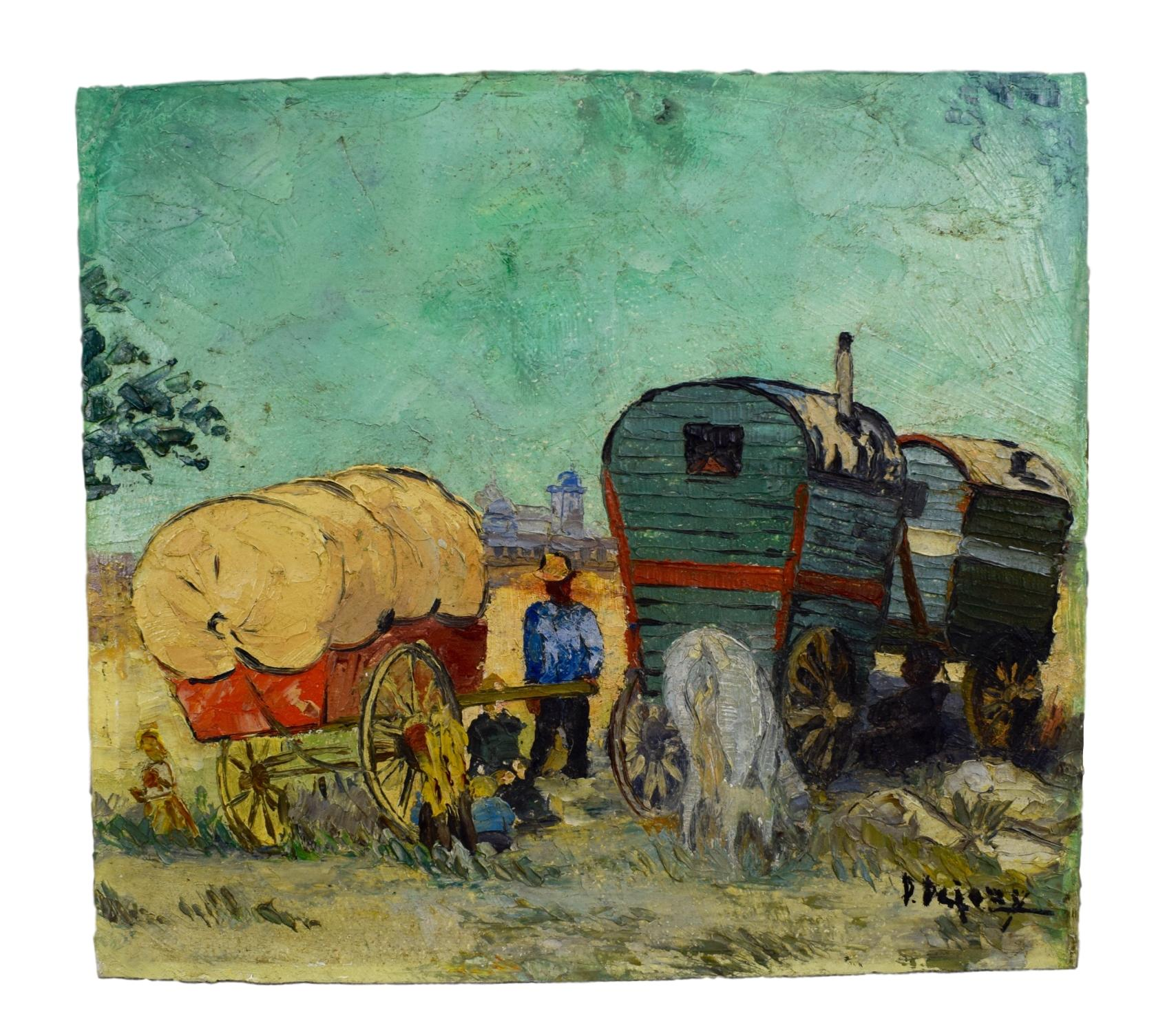 Gypsies Trailer Painting - Charmantiques
