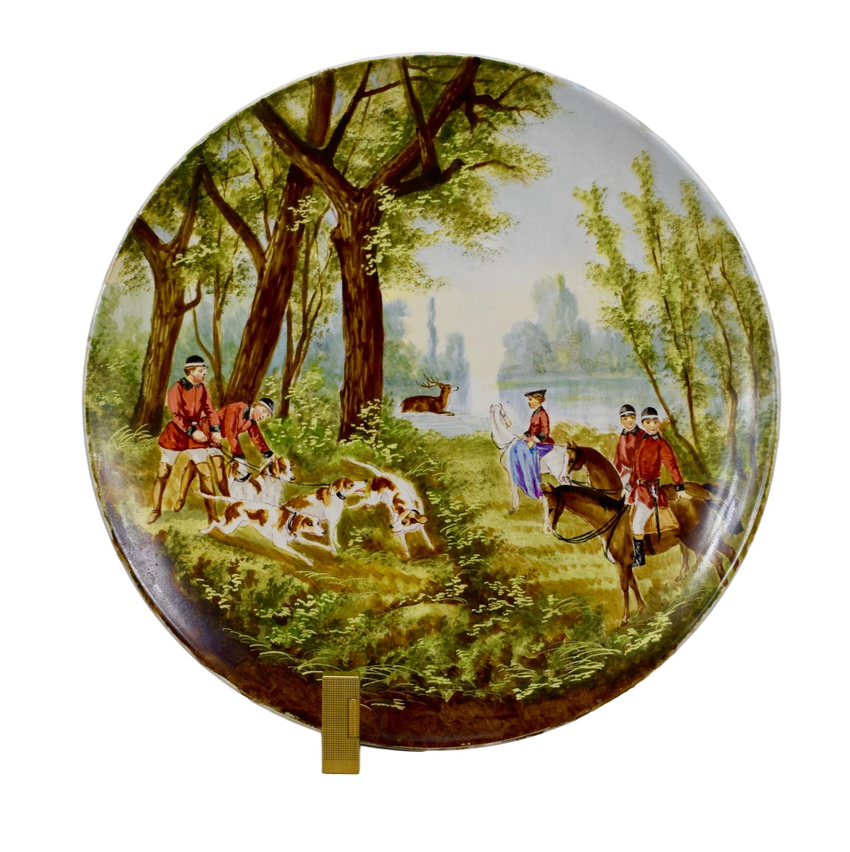 Incredible Large Hunt Wall Plate - Charmantiques