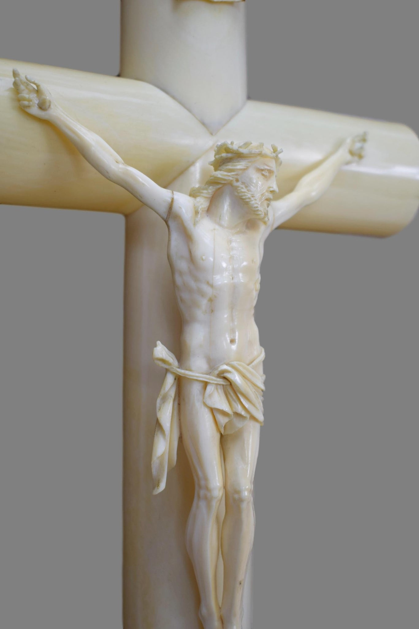 Hand Carved Crucifix - Charmantiques