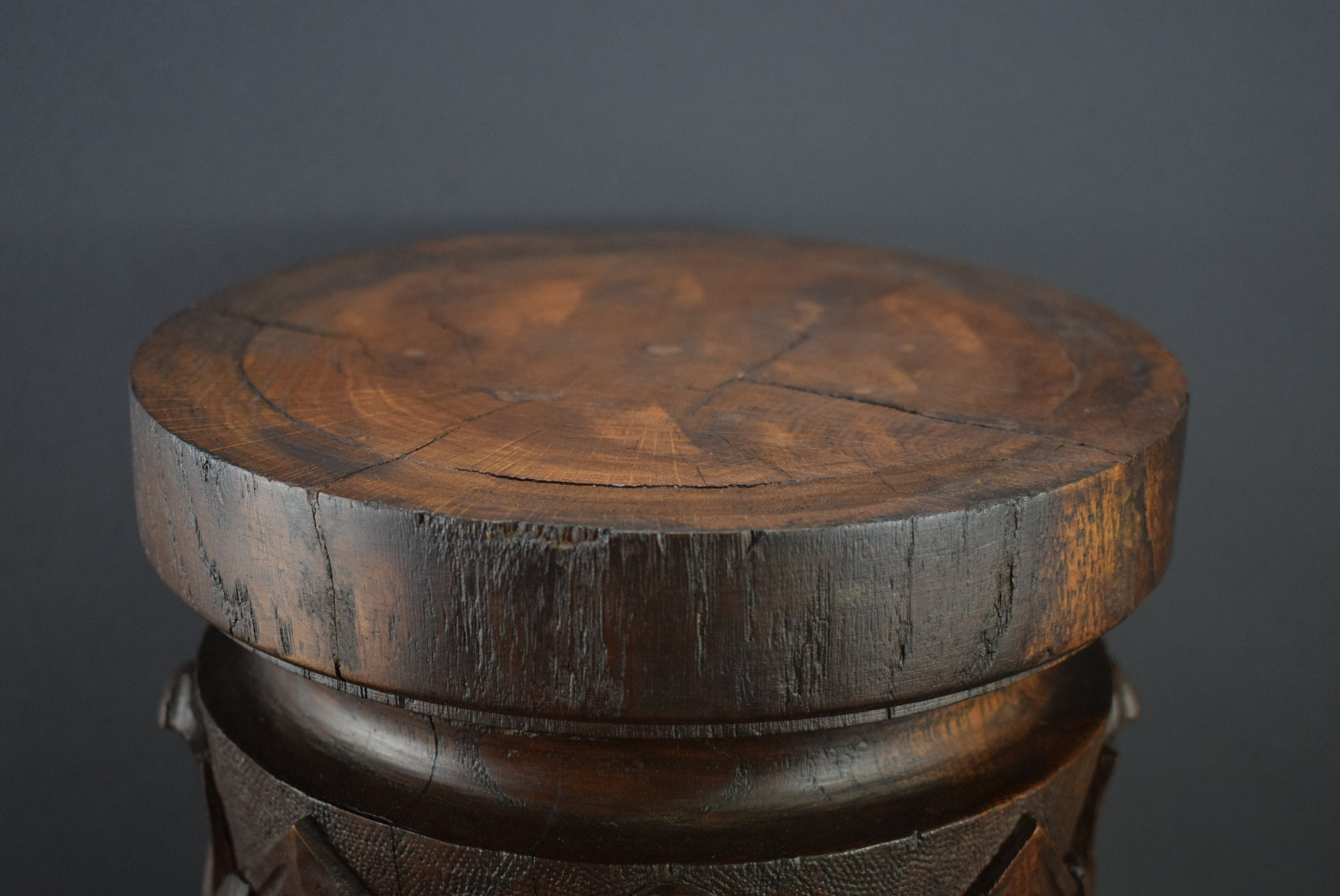 Large Wood Pedestal